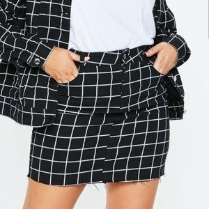 Missguided plus size grid skirt